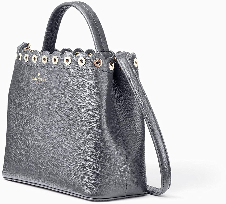 New Authentic Kate Spade Mini Janell Paloma Road Handbag Purse Smoky Pearl
