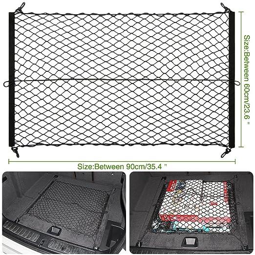 2 opinioni per Veicolo Trunk Mesh Auto Cargo Net, Universale Cargo Rete Elastica Espanso Trunk