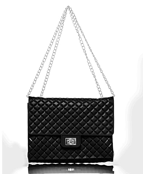 40962ecec65 Caseahead Luxury Women Crossbody Shoulder Bag Jelly Quilted Handbag  Silicone Clutch Purse with Chain Strap