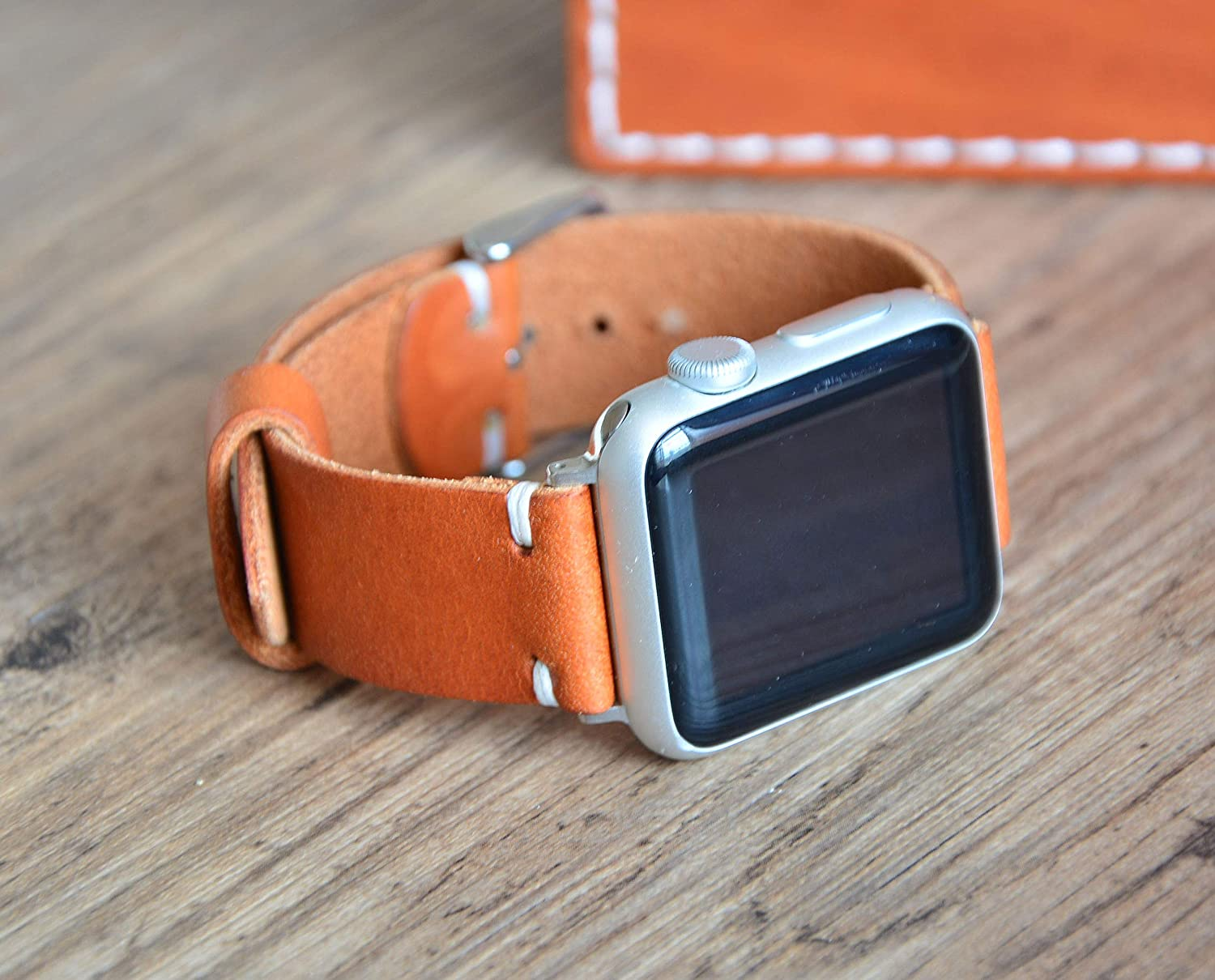 Apple Watch Band 38mm 42mm 40mm 44mm Full Grain Leather Wristband