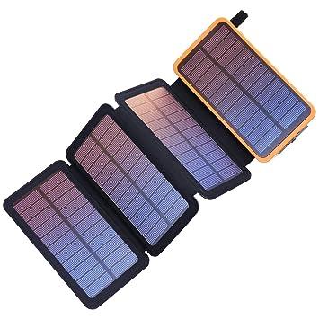 PEALIKER Cargador Solar 25000mAh Solar Power Bank Portátil ...