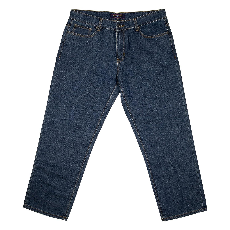 Fernando Pena Mens Denim Jeans 36 x 30 Denim Blue