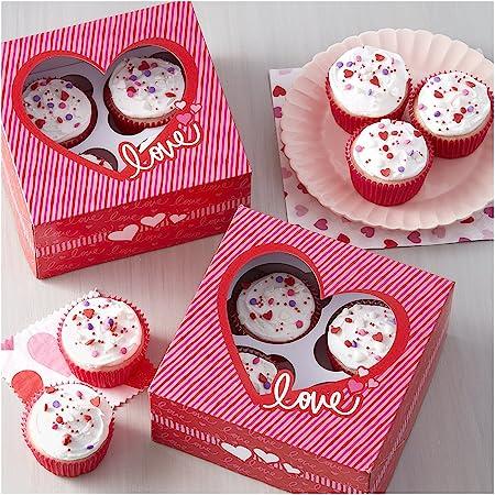Amazon.com: Wilton 2104-5936 Valentine Cupcake Gifting Bundle, 3-Pieces: Kitchen & Dining