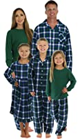 SleepytimePjs Family Matching Winter Green Plaid Pajamas PJS Sets For The Family