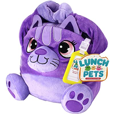 Lunch Pets Insulated Kids Lunch Box – As Seen on TV Plush Animal and Lunch Box Combination - SnackyCat: Kitchen & Dining [5Bkhe0502060]