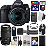 Canon EOS 6D Digital SLR Camera Body + EF 24-105mm IS STM & 70-300mm IS USM Lens + 64GB Card + Backpack + Flash + Battery/Charger + Grip + Filters Kit