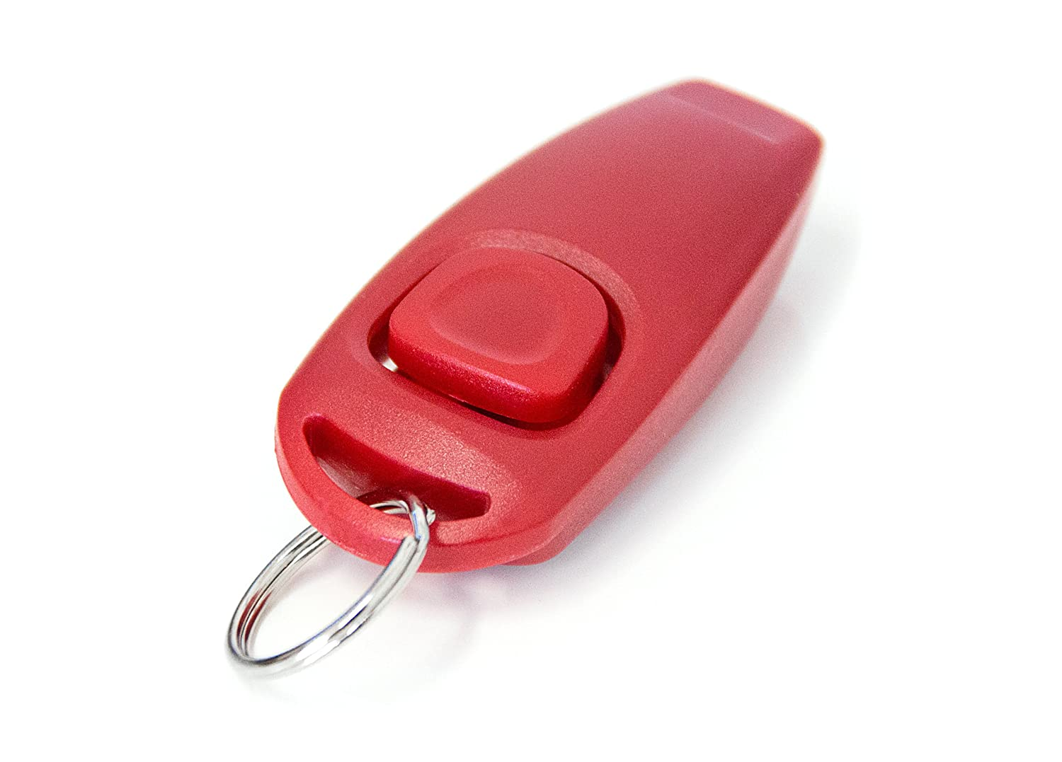 """2in1 clicker and dog whistle"" Dog clicker dog whistle dogclicker clicker dog training dogtraining in red NEW / brand PRECORN"