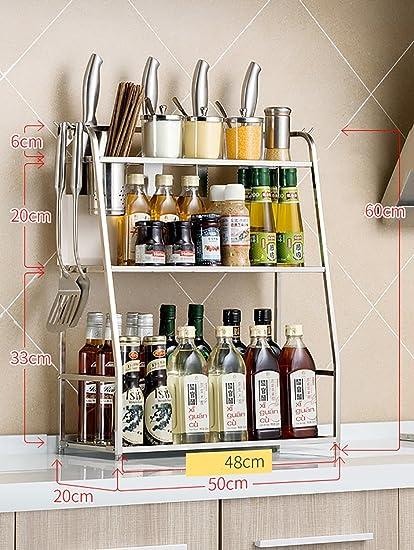 Porta Spezie Scaffale per cucina 304 Scaffale per cucina in acciaio ...