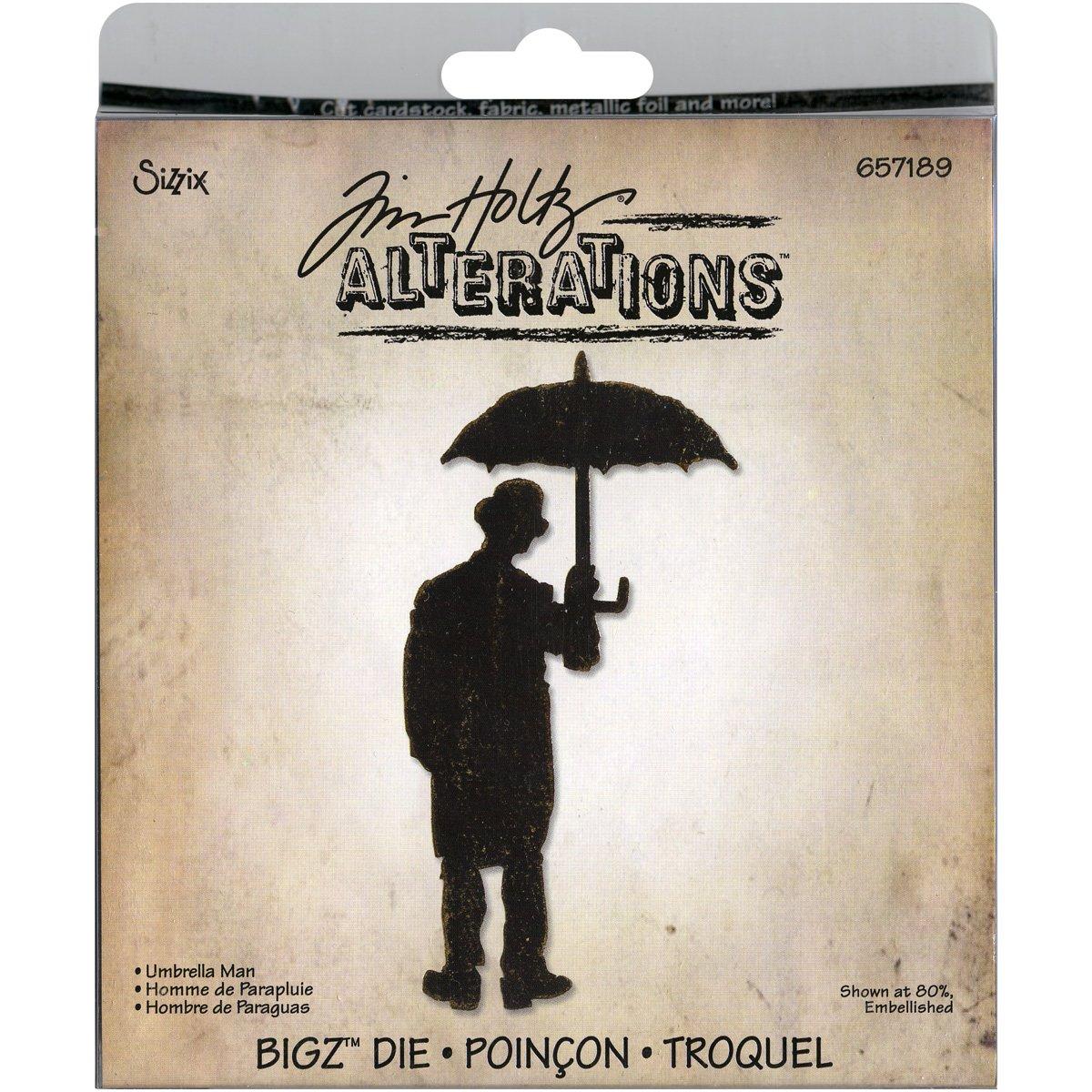 sizzix bigz die umbrella man by tim holtz amazon co uk kitchen