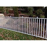 """Zippity Outdoor Products Birkdale Semi-Permanent Vinyl Fence Kit, 48"""" H x 92"""" W, White"""