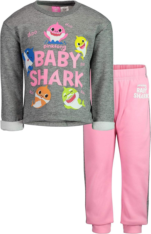 Pinkfong Baby Shark Toddler Girls Fleece Top & Leggings Set