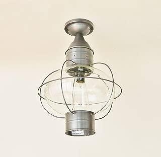 product image for Brass Traditions 613-DB Large Flush Mount Onion Lantern, Dark Brass Finish Flush Mount Onion Lantern