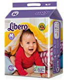 Libero Open Medium Size Diaper (60 Count)