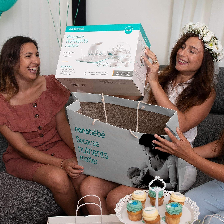 Nanobebe Breastmilk Feeding Bottle System Newborn Gift Set