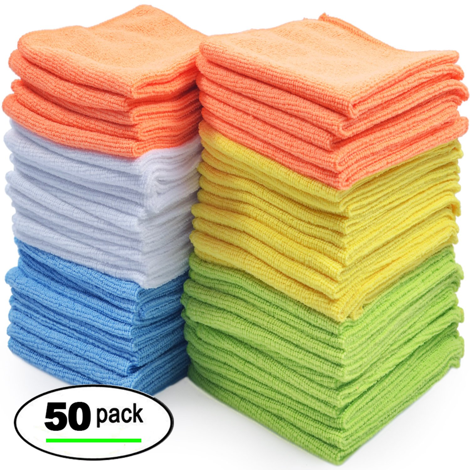 Microfiber Cloth Manufacturers Uk: Best Microfiber Cleaning Cloth, Pack Of 50 689988840084