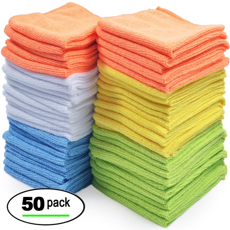 Microfiber Cloth Ebay Uk: Best Microfiber Cleaning Cloth, Pack Of 50 689988840084