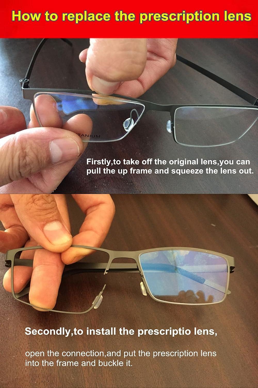 Amazon.com: SO SMOOTH WIND B-Titanium Light Eyeglasses Frame Round ...