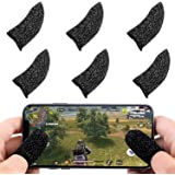 Newseego Mobile Game Controller Finger Sleeve Sets [6 Pack], Anti-Sweat Breathable Full Touch Screen Sensitive Shoot Aim Joysticks Finger Set for PUBG/Knives Out/Rules of Survival-Black