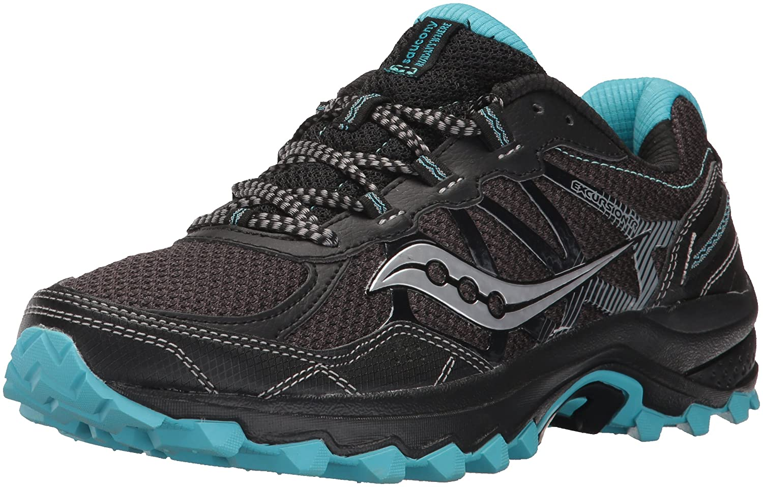 Saucony Women's Excursion Tr11 Running-Shoes B01N9LO3IQ 7 B(M) US|Black Blue