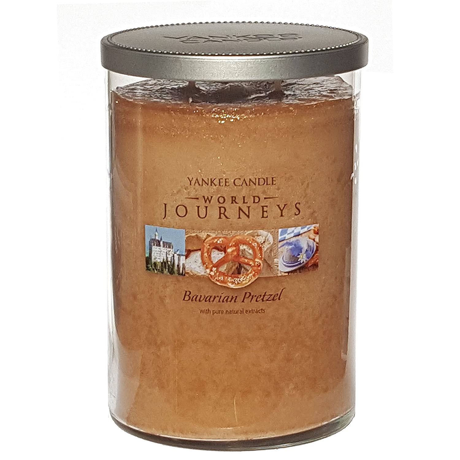 Yankee Candle - Candela in giara grande, edizione limitata, rara ed ufficiale della marca Yankee Candle gamma World Journeys, fragranza: Bavarian Pretzel, con doppio stoppino, da 566 g My Planet