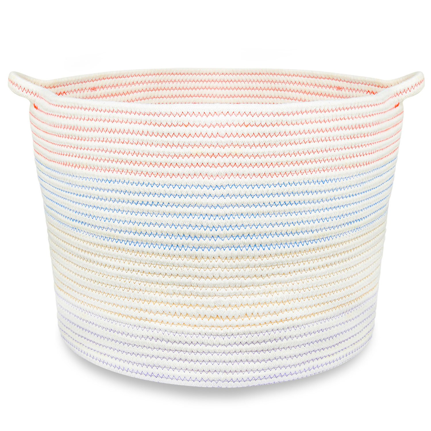 18 x 16 Extra Large Storage Baskets Cotton Rope Woven Nursery Bins, off white (XL) tao