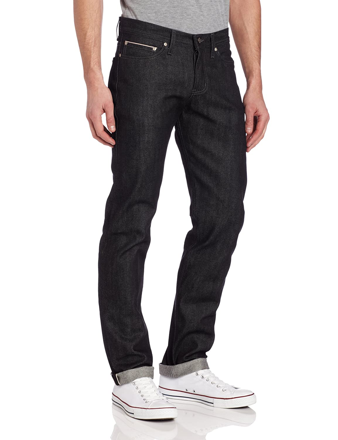 a5800302 Amazon.com: Naked & Famous Denim Men's Weird Guy Jean, Black, 29x35:  Clothing