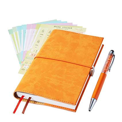 2019 Monthly Planner with Index Sticks Ballpoint Pen, Agenda Book to  Achieve Your Goals Pocket Calendar 2019-2020 for Better Working Efficiency