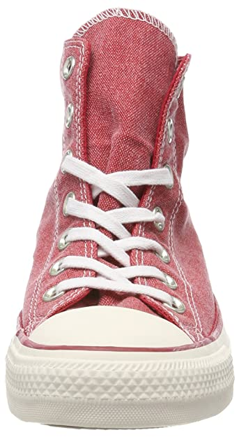 Converse Chuck Taylor CTAS Hi Cotton, Chaussures de Fitness Mixte Adulte, Rouge (Enamel Red/Enamel Red/White 603), 41.5 EU