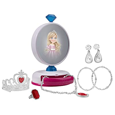 Playkidiz Princess Magic Surprise Jewelry and Mirror Set! Kids Pretend Play Magical Mirror, Jewelry and Vanity Chest Great for Your Little Girl & Toddlers.: Toys & Games