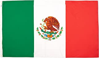 product image for Annin Flagmakers Model 195712 Mexico Flag Nylon SolarGuard NYL-Glo, 5x8 ft, 100% Made in USA to Official United Nations Design Specifications