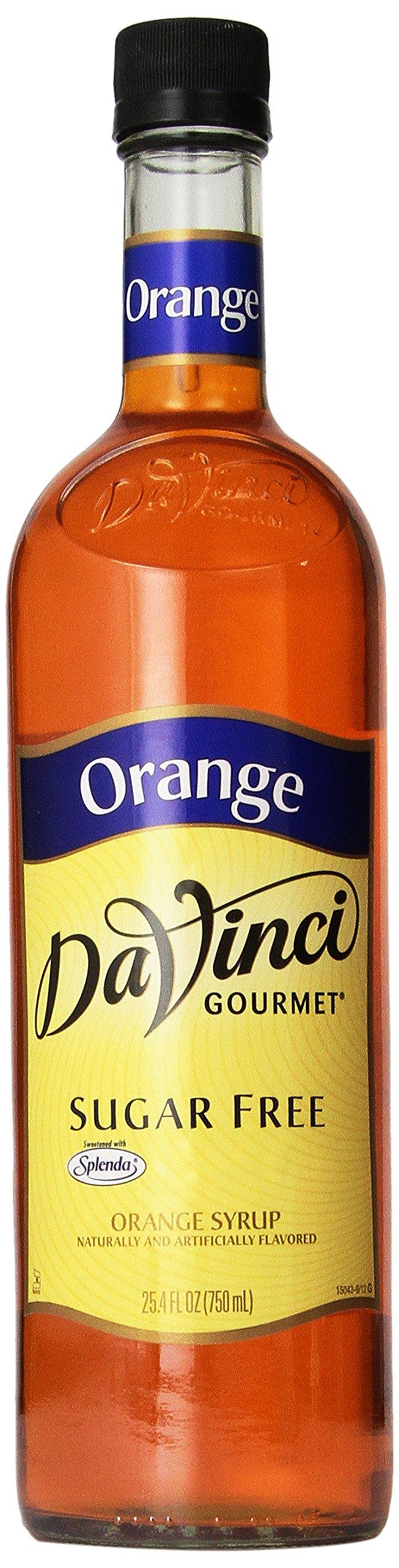 Da Vinci SUGAR FREE Orange Syrup 750mL with Splenda