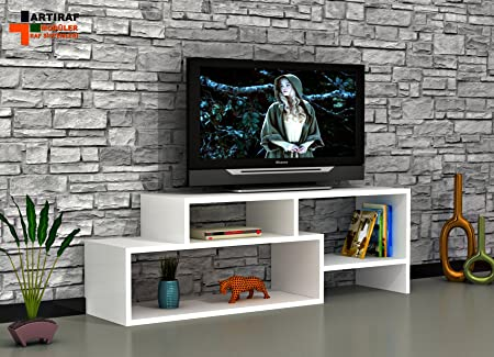 Oyo concepto - Unidad de soporte de TV / mueble de TV / unidad modular de pared (trébol): Amazon.es: Hogar