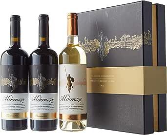 Vino Aldonza, Estuche Leyenda, 2 bot. Dehesa de Navamarin 2010 tinto, 1 bot. Albo 2016 blanco. (Pack 3 Botellas): Amazon.es: Alimentación y bebidas