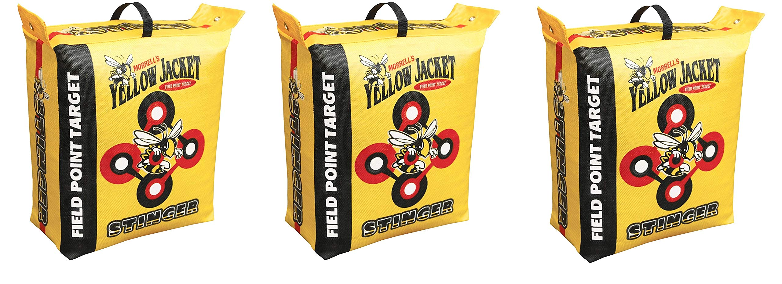 Morrell Yellow Jacket Stinger Field Point Bag Archery Target - Great for Compound and Traditional Bows (3-Pack) by Morrell