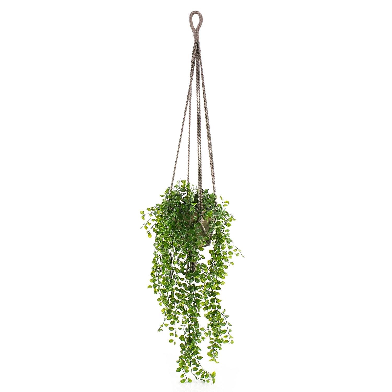 Fioriera sospesa decorativa SILIJA con fico rampicante, verde, 80cm - Ficus artificiale / Pianta artificiale cadente - artplants