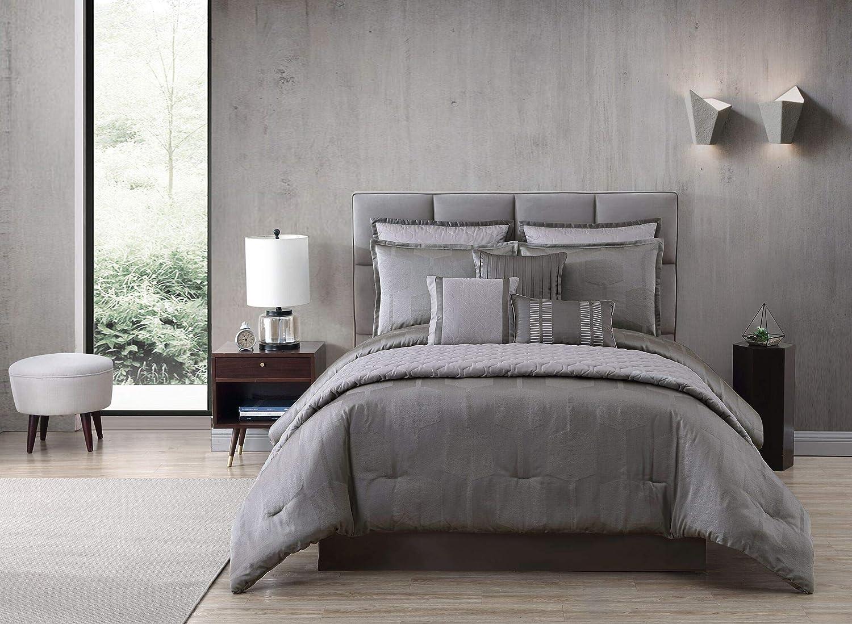 Riverbrook Home 7900 10-Piece Comforter Set, Queen, Gilmore - Gray