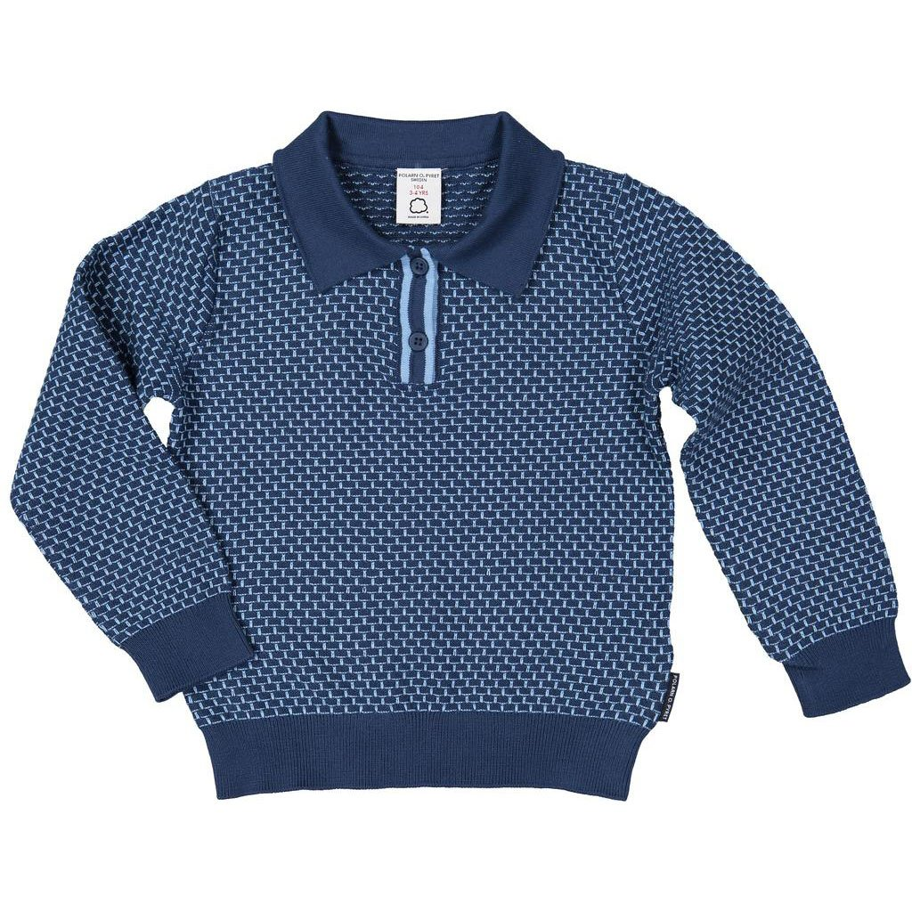 Polarn O. Pyret Textured Polo Collar Sweater (2-6YRS)