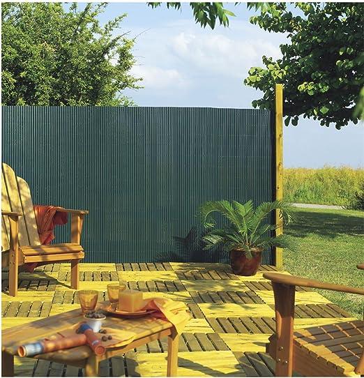 Faura 1x3m - Cañizo de PVC Doble Cara 1600gr/m2 - Verde Oscuro: Amazon.es: Jardín