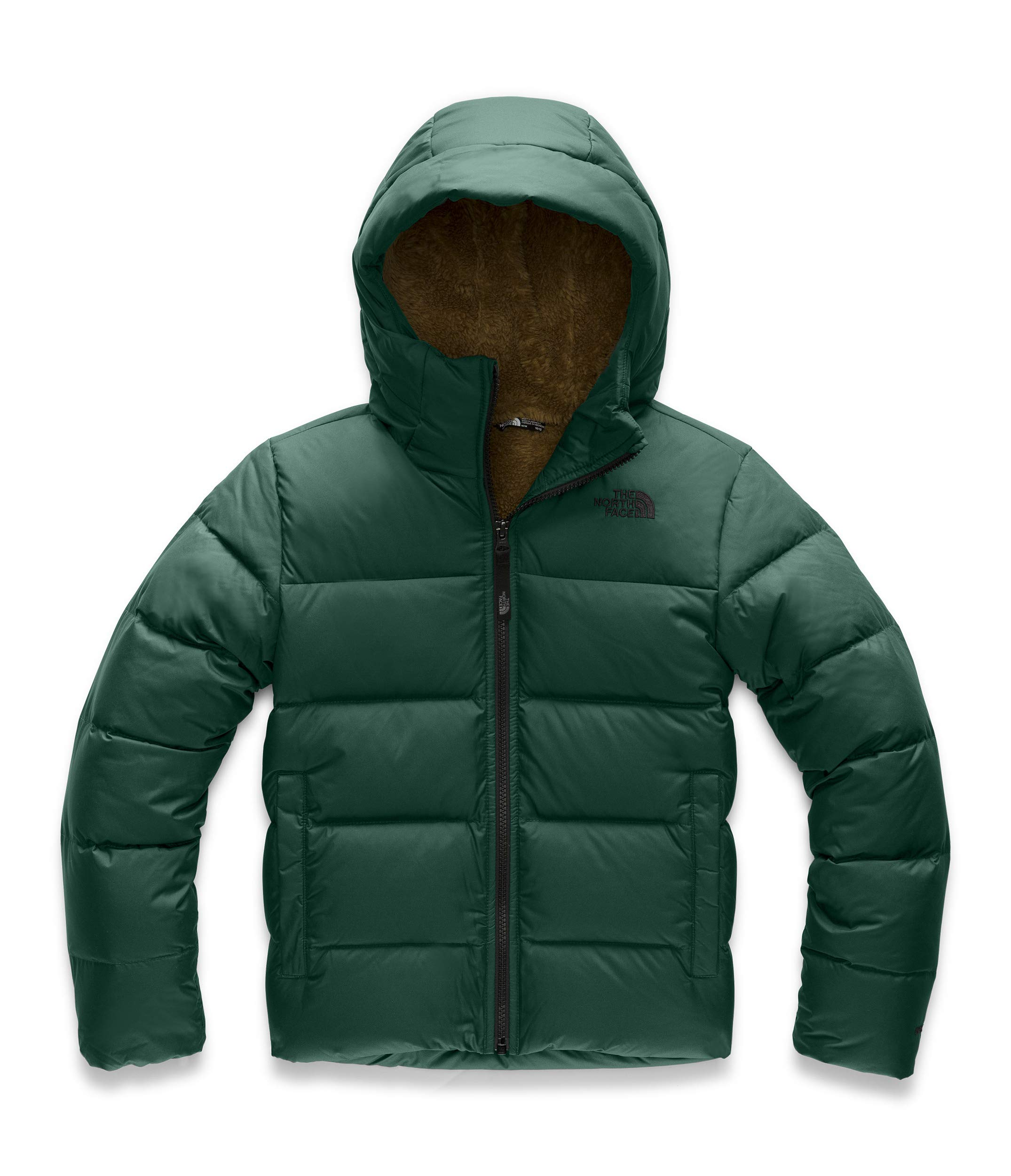 The North Face Youth Moondoggy 2.0 Down Hoodie, Night Green, Small by The North Face