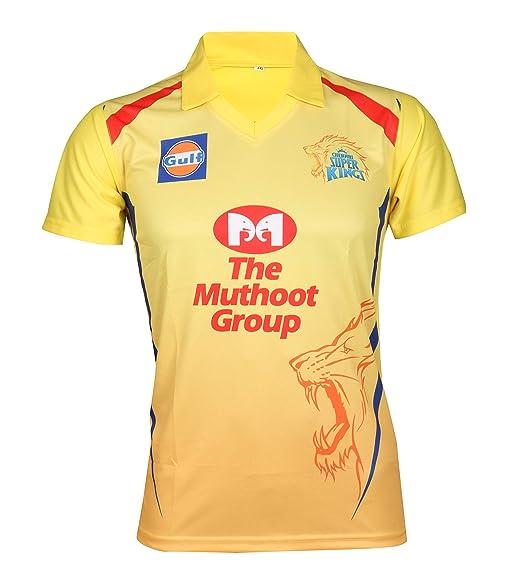 Camiseta de Manga Corta para críquet IPL Cricket CSK 2019 DHONI 7 ...