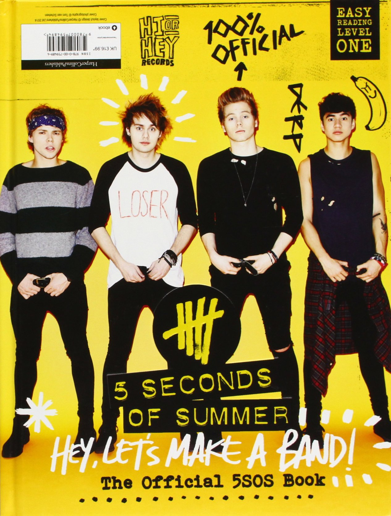 5 seconds of summer hey let s make a band the official 5sos book amazon co uk 5 seconds of summer 9780007594894 books