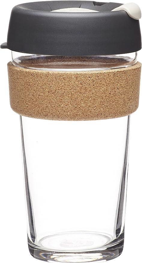 KeepCup Brew Cork, Reusable Glass Cup, Large 16oz   454mls, Filter
