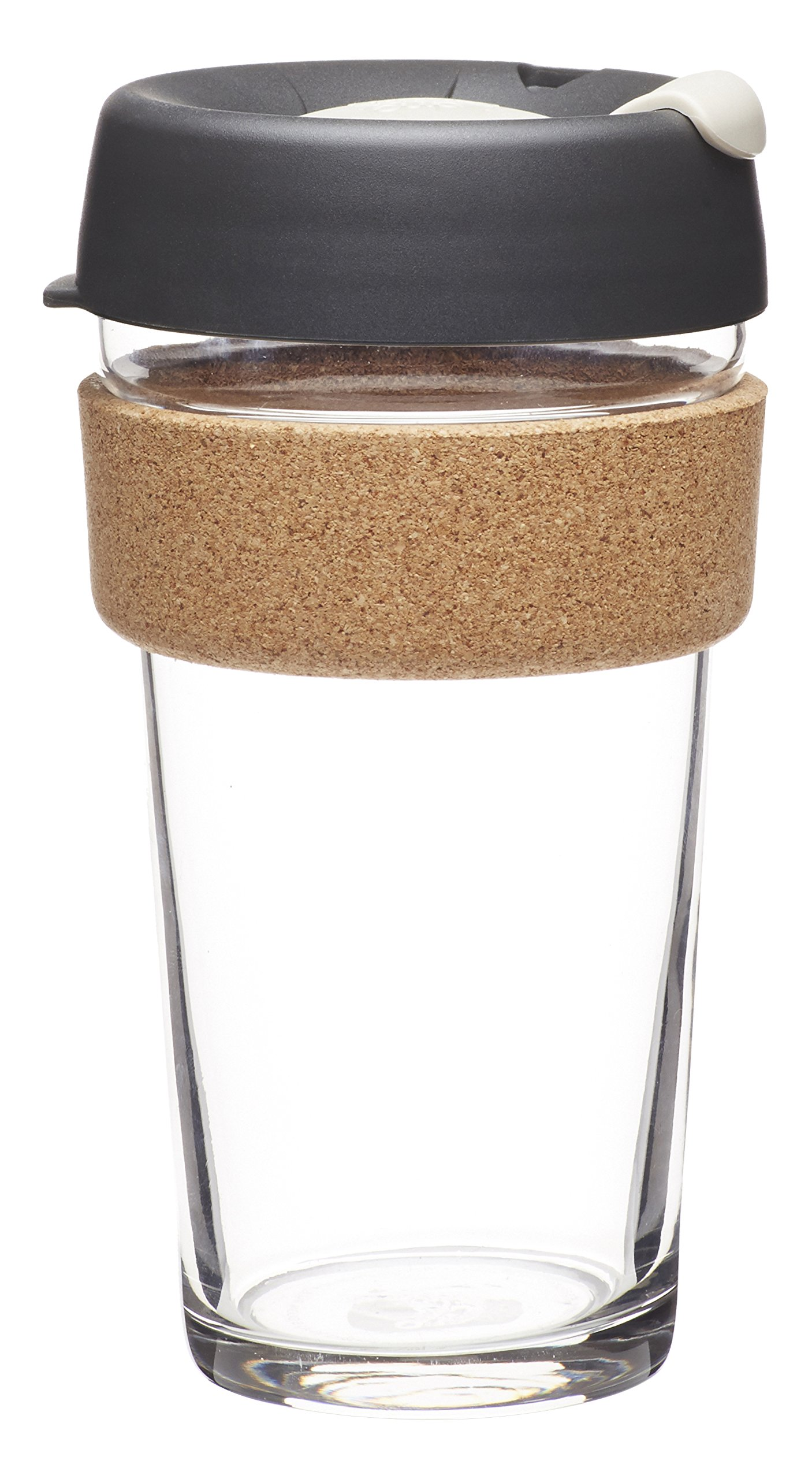 KeepCup 16oz Reusable Coffee Cup. Toughened Glass Cup & Natural Cork Band. 16-Ounce/Large, Press by KeepCup (Image #1)