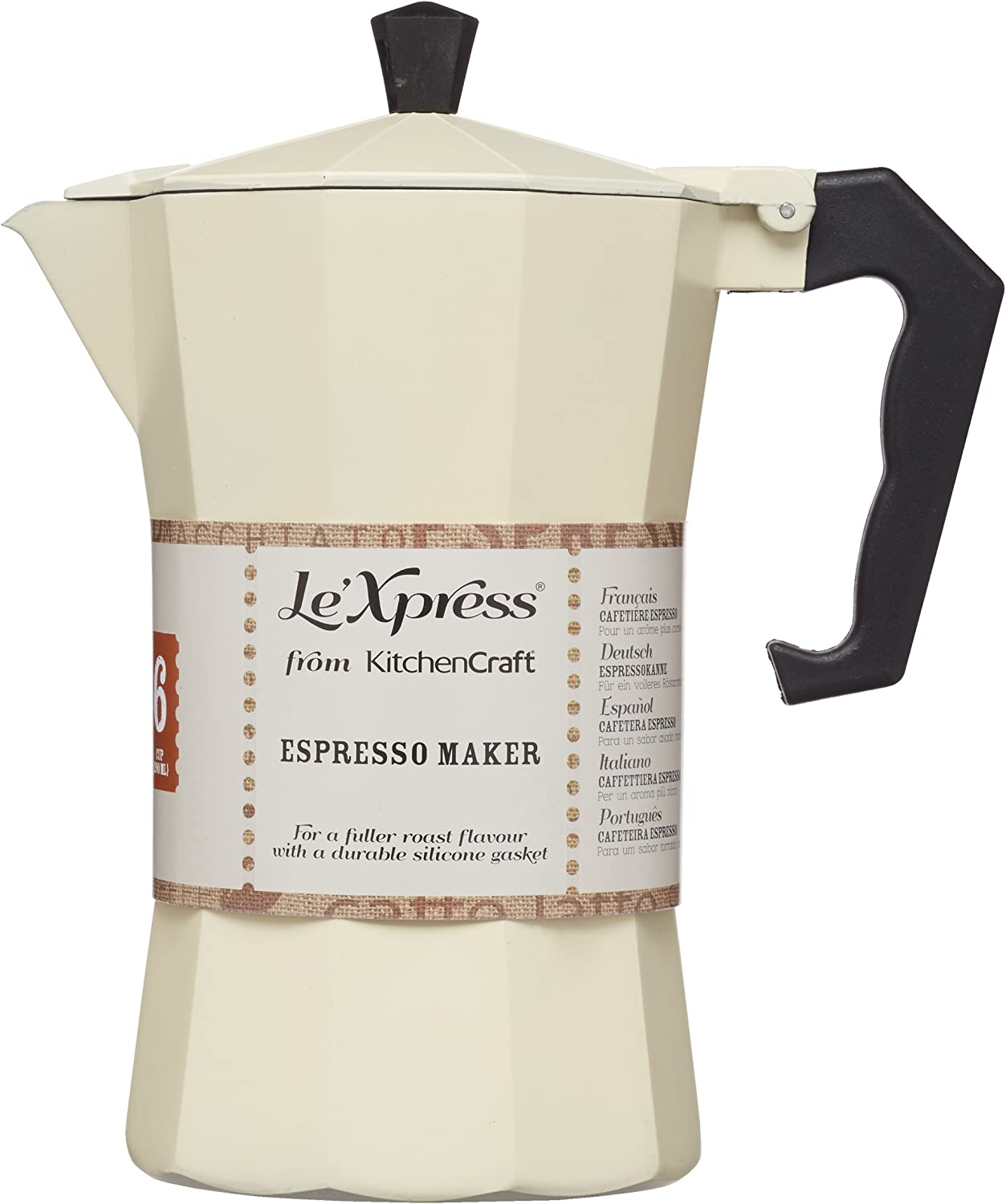 Kitchen Craft Le Xpress 290 ml Italiana de Crema cafetera ...