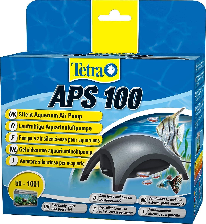 Tetra APS 100 Pompa per Acquari di 50 - 100 L, Aeratori Silenziosi e Potenti, Antracite