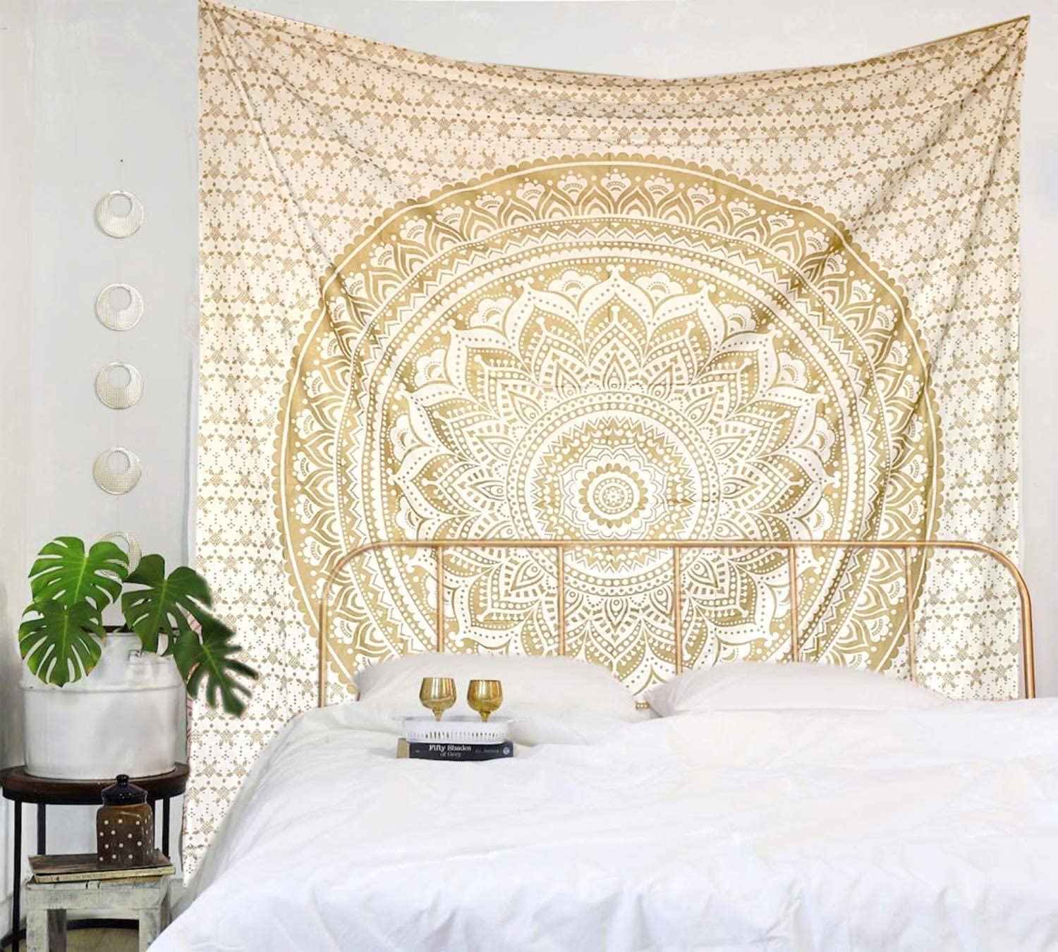 Ombre Mandala Wall Hanging Indian Hippie Tapestry Bohemian Cotton Dorm Decor