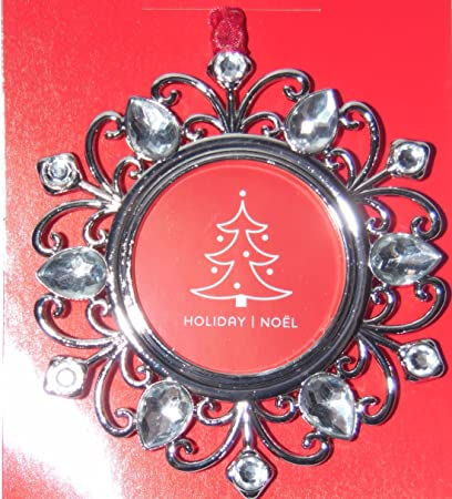 Amazon.com: Studio Decor Round Bling Christmas Ornament Photo Frame ...
