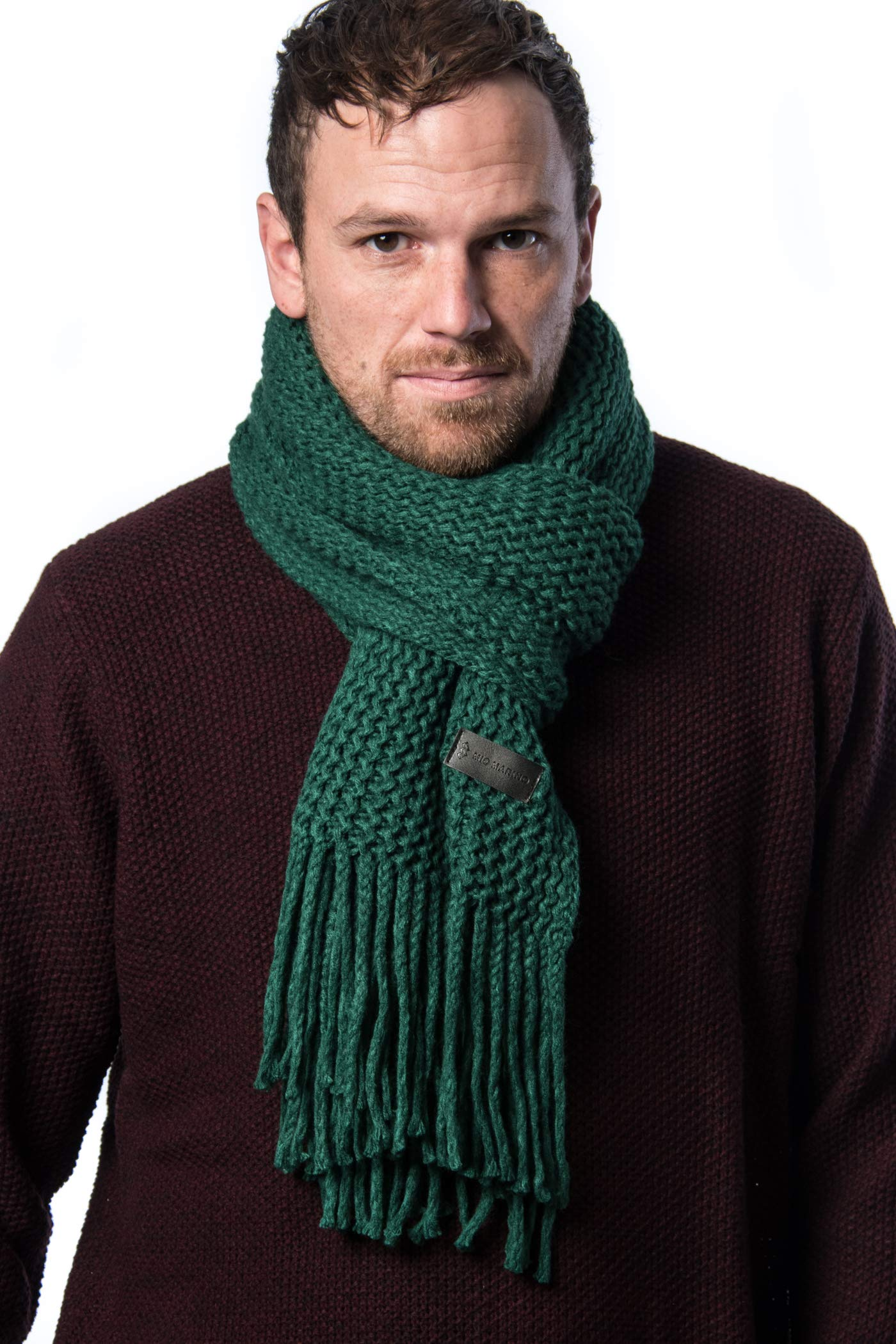 eaa58d971639b Mio Marino Mens Knitted Scarf - Winter Scarfs for Men - Ribbed Knit Mens  Scarves - Black - onesize at Amazon Men's Clothing store: