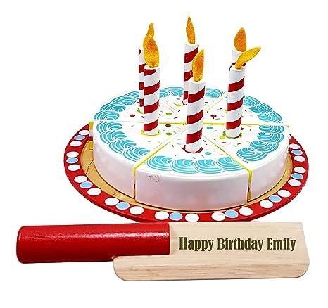 Juguete de madera personalizado para tarta de cumpleaños ...