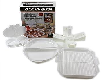 Juego de 4 hornillos de cocina de plástico para microondas